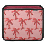 Pink Sequin Grunge Palm Tree Image Sleeves For iPads