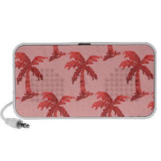 Pink Sequin Grunge Palm Tree Image Mini Speakers