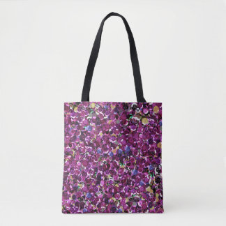Pink Sequin Sparkles All Over Print Tote Bag