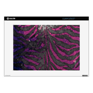 Pink Sequin Zebra Decal For Laptop