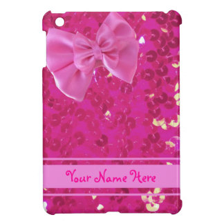 pink sequins ipad mini case