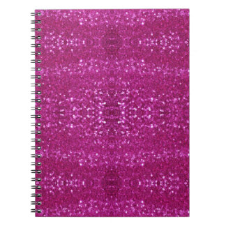 pink sequins notebook