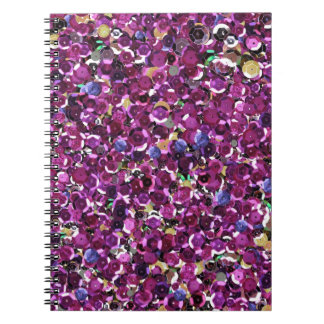 Pink Sequins Sparkle Glitter Notebook