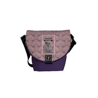 Pink Service Dog ID Messenger Bag