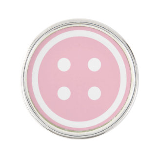 Pink Sewing Button Lapel Pin