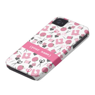 Pink Sewing iPhone 4 Case-Mate Barely There™