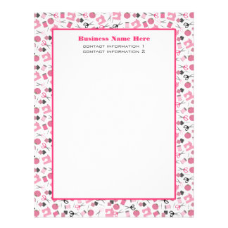 Pink Sewing Letterhead