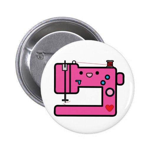 pink sewing machine 2 inch round button