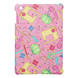 Pink Sewing Notions iPad Mini Cover