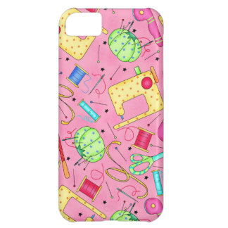 Pink Sewing Notions iPhone Case