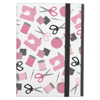 Pink Sewing Themed iPad Case With Kickstand