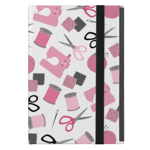 Pink Sewing Themed iPad Mini Case With Kickstand