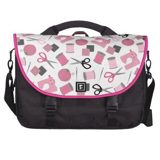 Pink Sewing Themed Laptop Bag