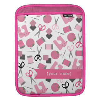 Pink Sewing Themed Personalized iPad Sleeve