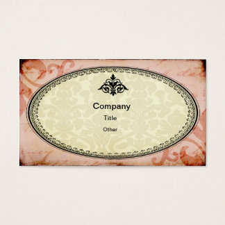 Pink Shabby Chic Business Card