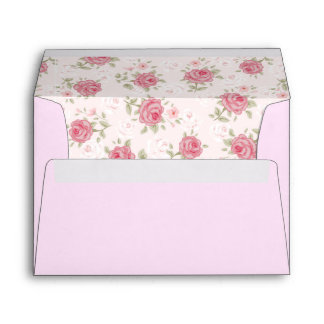 Pink,shabby chic,vintage,floral,victorian,white, envelope