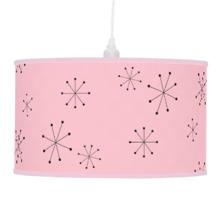 Pink Shade Retro Atoms Lamp