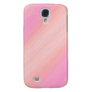 Pink shaded thin stripes galaxy s4 case