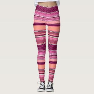 Pink Shades Illusion Stripe Leggings ★Psydefx★