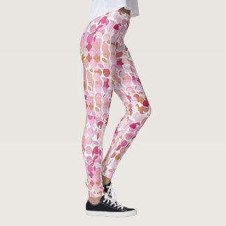 Pink Shades Multi Layer Polka Dot Leggings Vers 1