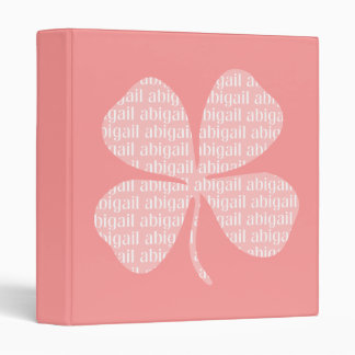 Pink Shamrock Abigail 3 Ring Binder