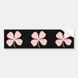 Pink Shamrock Abigail Bumper Sticker