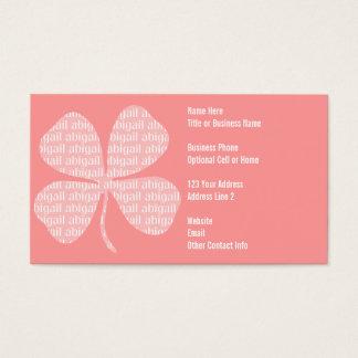 Pink Shamrock Abigail Business Card