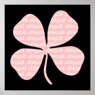 Pink Shamrock Abigail Print