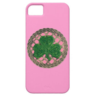 Pink Shamrock And Celtic Knots iPhone 5 Case