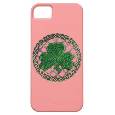 Pink Shamrock And Celtic Knots iPhone 5G Case