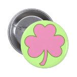 Pink Shamrock Button