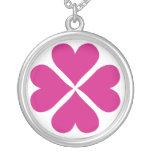 pink shamrock Necklace