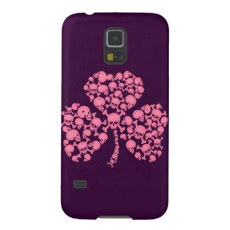Pink Shamrock Skulls Galaxy S5 Cover