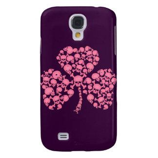 Pink Shamrock Skulls Galaxy S4 Case