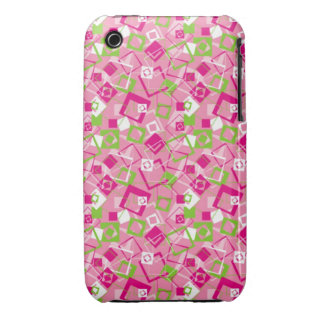 Pink Shapes Retro Abstract iPhone 3 Case-Mate Cases