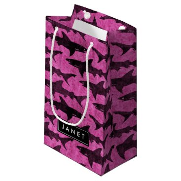 Beach Themed Pink Shark Bag with Name Label