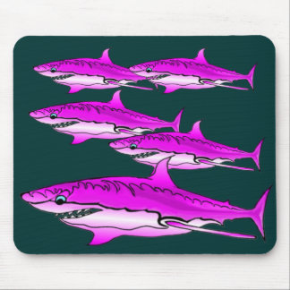 Pink Sharks Mouse Pad