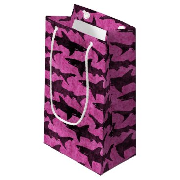 Beach Themed Pink Sharks Small Gift Bag