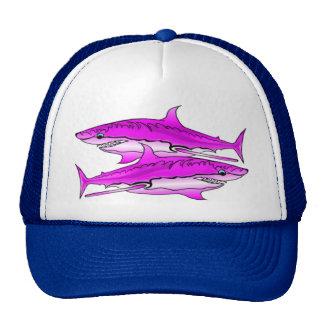 Pink SharksBall cap Trucker Hat