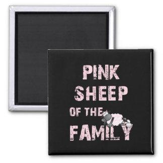 Pink Sheep Black Magnet