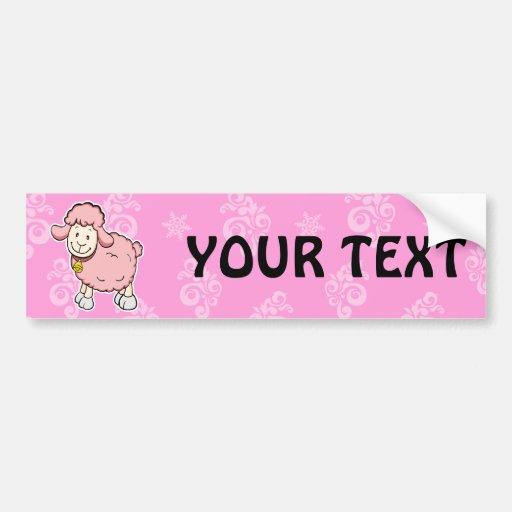 Pink Sheep Bumper sticker Car Bumper Sticker