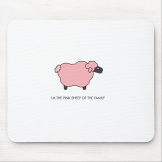 Pink Sheep Mouse Pad