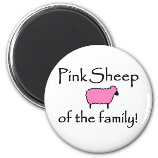 Pink Sheep of the Family 2 Inch Round Magnet