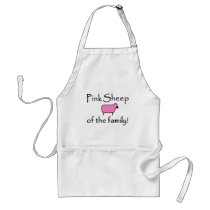 Pink Sheep of the Family Adult Apron