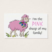 Pink Sheep of the Family Business Card