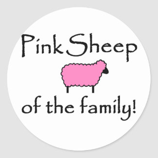 Pink Sheep of the Family Classic Round Sticker