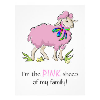 Pink Sheep of the Family Flyer Design