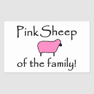 Pink Sheep of the Family Rectangular Sticker