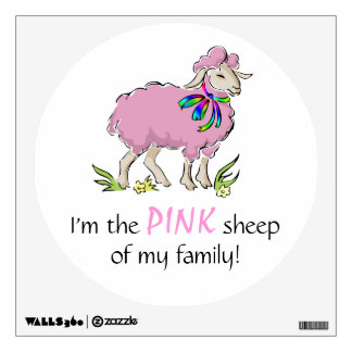 Pink Sheep of the Family Wall Sticker