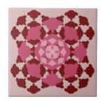 Pink sheep pattern mandala geboortetegel